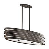 Oval Chandelier/Pendant 3-Light, Olde Bronze