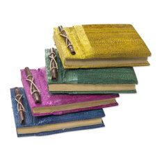 Ubud Memoirs Natural Fiber Journals, 4-Piece Set