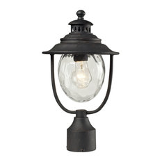 Searsport 1-Light Post Mount, Weathered Charcoal
