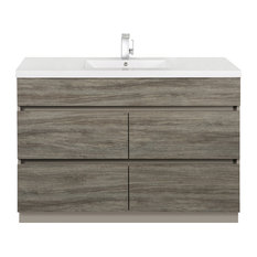 Southwester 48'' Contemporary Handless Vanity 4 Drawer With Single Bowl Top