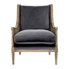 Churchill Club Chair, Shadow Gray Velvet