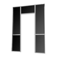 Patio Enclosure Screen Wall, Door Frame without screen door, White