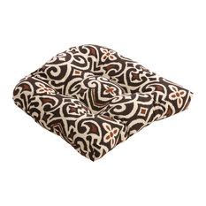 New Damask Wicker Seat Cushion, Terrain