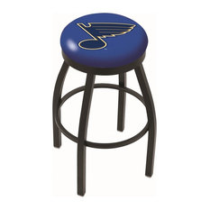 Holland Bar Stool Co Black Wrinkle St Louis Blues Swivel Bar Stool