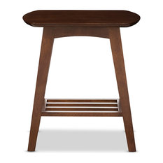 baxton studio sacramento end table walnut dark brown side tables and end tables
