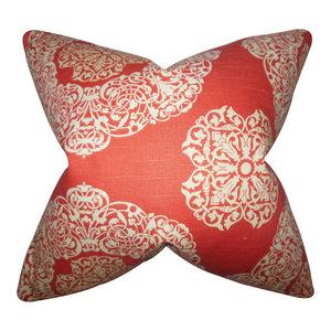 The Pillow Collection Heidrun Floral Bedding Sham Brown Queen//20 x 30