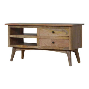 Nordic Style TV Stand  with 2 Drawers and Shelf