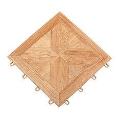 Tileflex Tile, Light Parquet, Box of 12