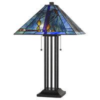 """25"""" Metal Table Lamp, Matt Black"""