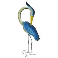 Home Accent Blue Iron Egret Decor