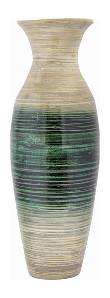 Kelly 29 Spun Bamboo Floor Vase Contemporary Vases By Heather