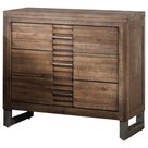 Simple Rough Raw Wood Dresser Cabinet with Iron Hardware - Rustic - Dressers - by Golden Lotus ...