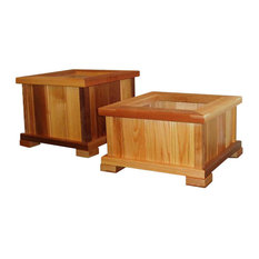 Wood Country Patio Planters, Unstained
