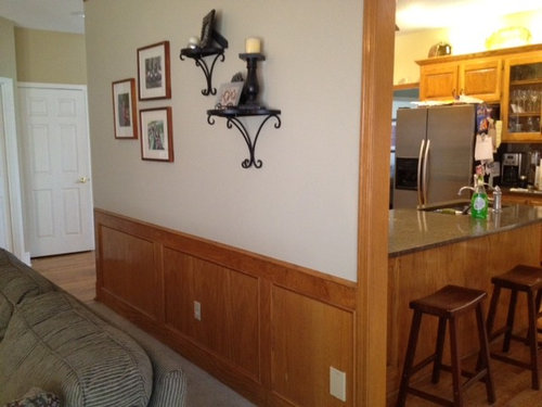 Need Ideas For Redecorating This Room Should I Paint The Oak Wainscotting