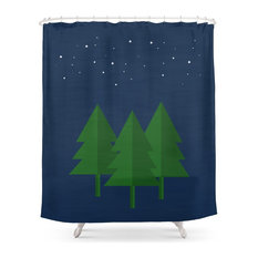 Camping Series, Trees Shower Curtain