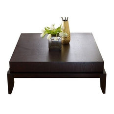 Bowery Hill   Bowery Hill Square Wood Coffee Table, Mahogany   Coffee Tables