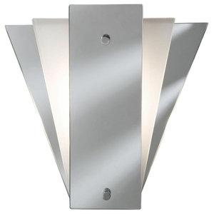 Searchlight Deco Fan Mirrored Wall Bracket Light