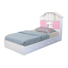 Luxurious Chest Bed With 3-Storage Drawer, White, Twin