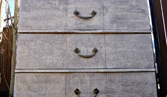 """Distressed """"Stone"""" Cabinet"""