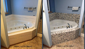 Master Bath Tile Remodel (Before and After)