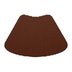 Kraftware Fishnet Chocolate Brown Wedge Placemats, Set of 12