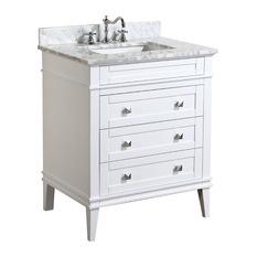 kitchen bath collection eleanor vanity white 30 bathroom vanities and sink - Bathroom Vanitiy