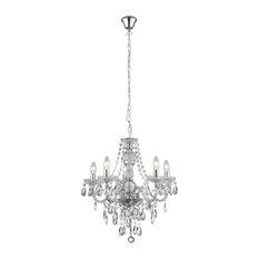 Pagazzi - Chantelle 5 Light Clear Ceiling Light - Chandeliers