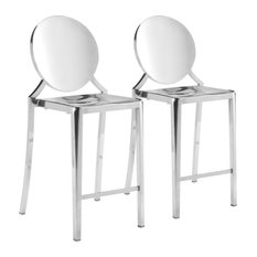 Eclipse Counter Chair, Set of 2, Stainless Steel