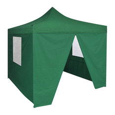 Foldable Tent with 4 Walls, Green, 3x3 m