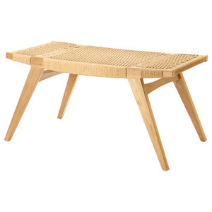 Pi-Squared Oak Footstool, Natural