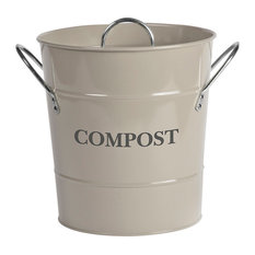 Compost Buckt in Chalk - Steel, Compost Bucket Also Available in Clay