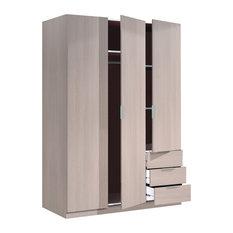Lina Oak Combi Wardrobe With 3 Doors