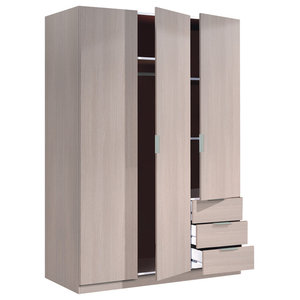 Lina Oak Combi Wardrobe With 3 Doors