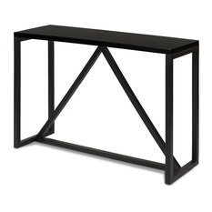 Kaya Wood Console Table, Black