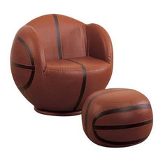 All-Star 2-Piece Youth Chair and Ottoman Set, Basketball