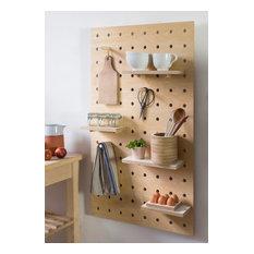 Pegboard storage panel plywood