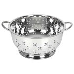 Lindy's - Lindy's 8 Qt Home Stainless Steel Colander with Handles for Straining - Description: