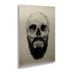 Balazs Solti 'The Beard Is Not Dead' Floating Brushed Aluminum Art