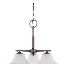 Nuvo Lighting - Teller 3-Light Chandelier, Aged Pewter - Chandeliers