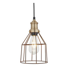 Brooklyn Rusty Cage Pendant, Brass