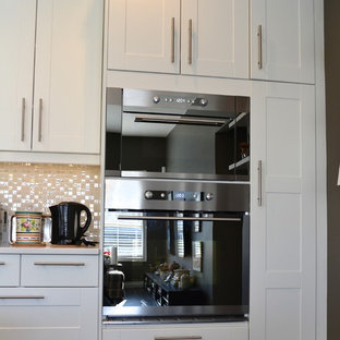 Example Of A Mid Sized Trendy Home Design In Vancouver Save Photo Grimslov Ikea White And Grey Kitchens