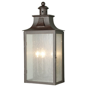 Period Style Large Exterior Half Wall Lantern