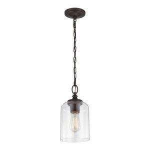 Blackened Oil Rubbed Bronze Kenroy Home 93038AMER/ Nillo 1-Light Pendant
