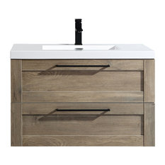 The Cosmo Wall Mounted Modern Bathroom Vanity Eve 36-inch