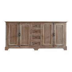 "71"" Providence Double Cabinet, Driftwood, No Top"