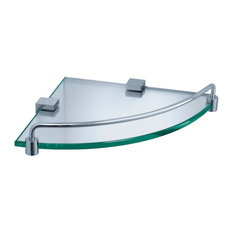 Fresca Ottimo Corner Glass Shelf, Chrome
