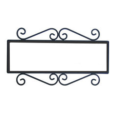 Wrought Iron House Number Frame Mission 5