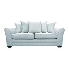 Westbridge Modern 3-Seater Scatter Back Sofa, Light Blue