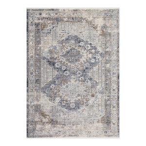 Liverpool Updated Traditional Charcoal Gray Area Rug