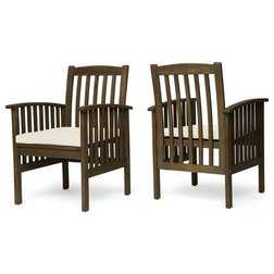 Craftsman Outdoor Dining Chairs by GDFStudio